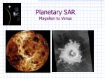 planetary sar magellan to venus