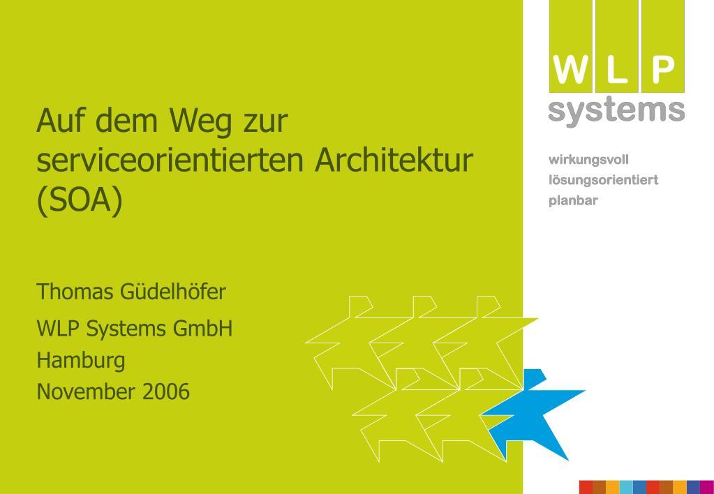auf dem weg zur serviceorientierten architektur soa l.