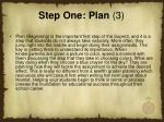 step one plan 3
