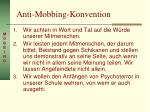 anti mobbing konvention