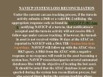 navicp system loss reconciliation