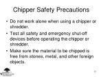 chipper safety precautions17