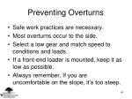 preventing overturns
