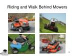 riding and walk behind mowers