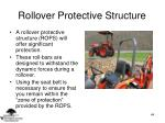 rollover protective structure