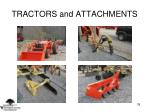 tractors and attachments