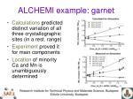 alchemi example garnet