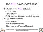 the xrd powder database
