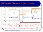 1d example eigenfrequencies of chain