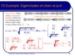 1d example eigenmodes of chain at q 0