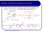 newton classical equations of motion