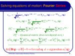 solving equations of motion fourier series