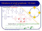 vibrations of small amplitude 1d chain