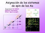 asignaci n de los sistemas de spin de los aa31