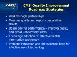 cms quality improvement roadmap strategies