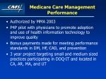 medicare care management performance