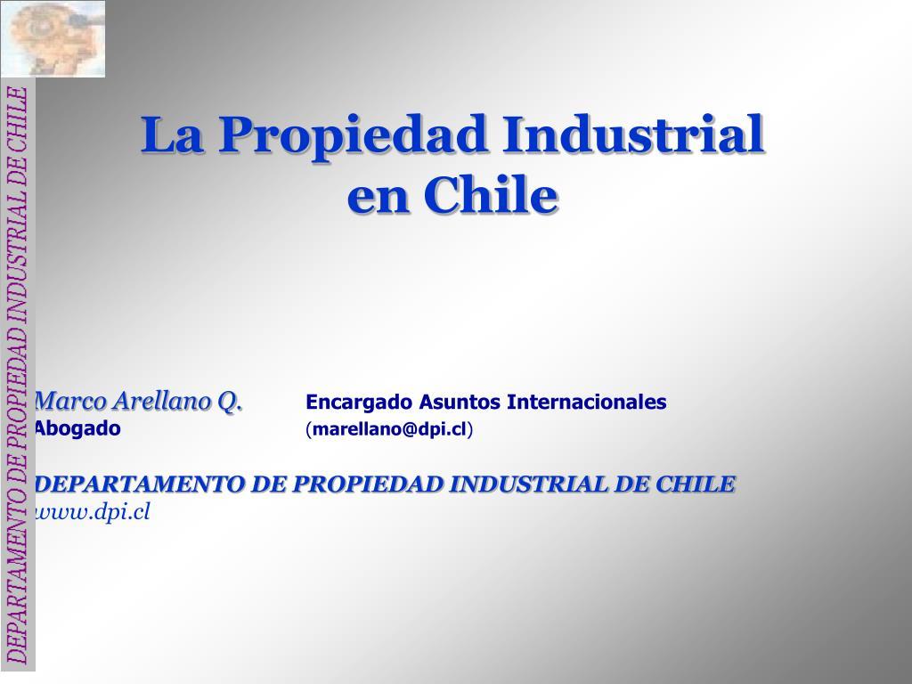 la propiedad industrial en chile l.