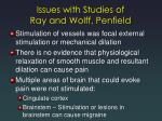 issues with studies of ray and wolff penfield