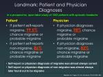 landmark patient and physician diagnoses