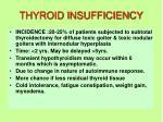 thyroid insufficiency
