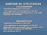 kantian vs utilitarian