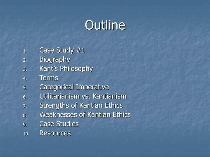 kantianism versus utilitarianism Kantianism and utilitarianism are two theories that attempt to answer the moral nature of human beings immanuel kant's moral system is based on a belief that reason is the final authority for morality.