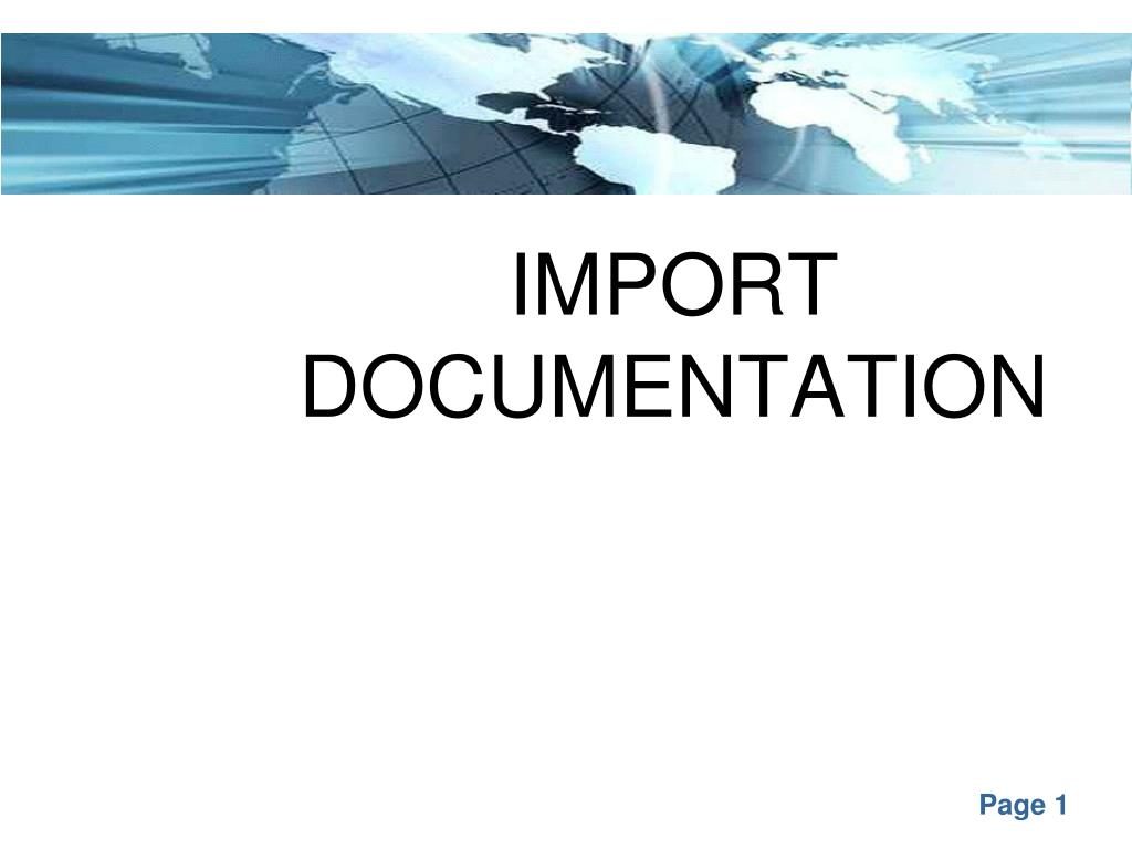 import documentation l.
