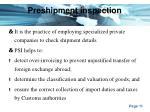 preshipment inspection