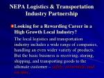 nepa logistics transportation industry partnership