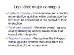 logistics major concepts