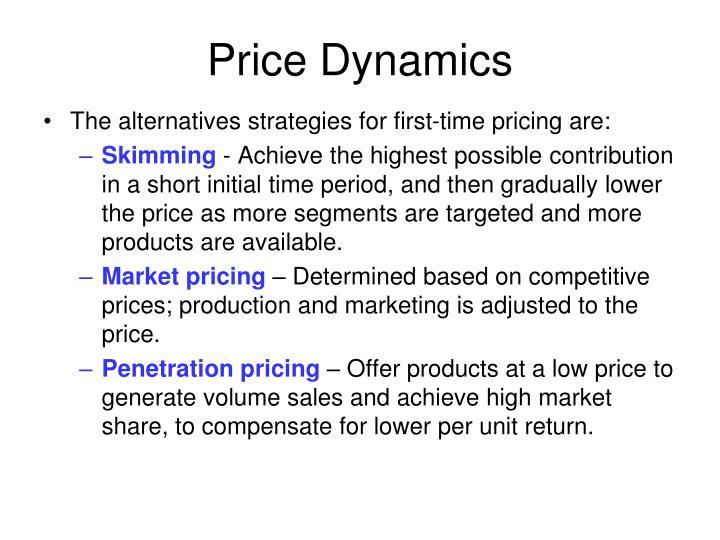 Price dynamics