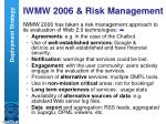 iwmw 2006 risk management