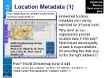 location metadata 1