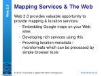 mapping services the web