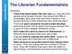 the librarian fundamentalists
