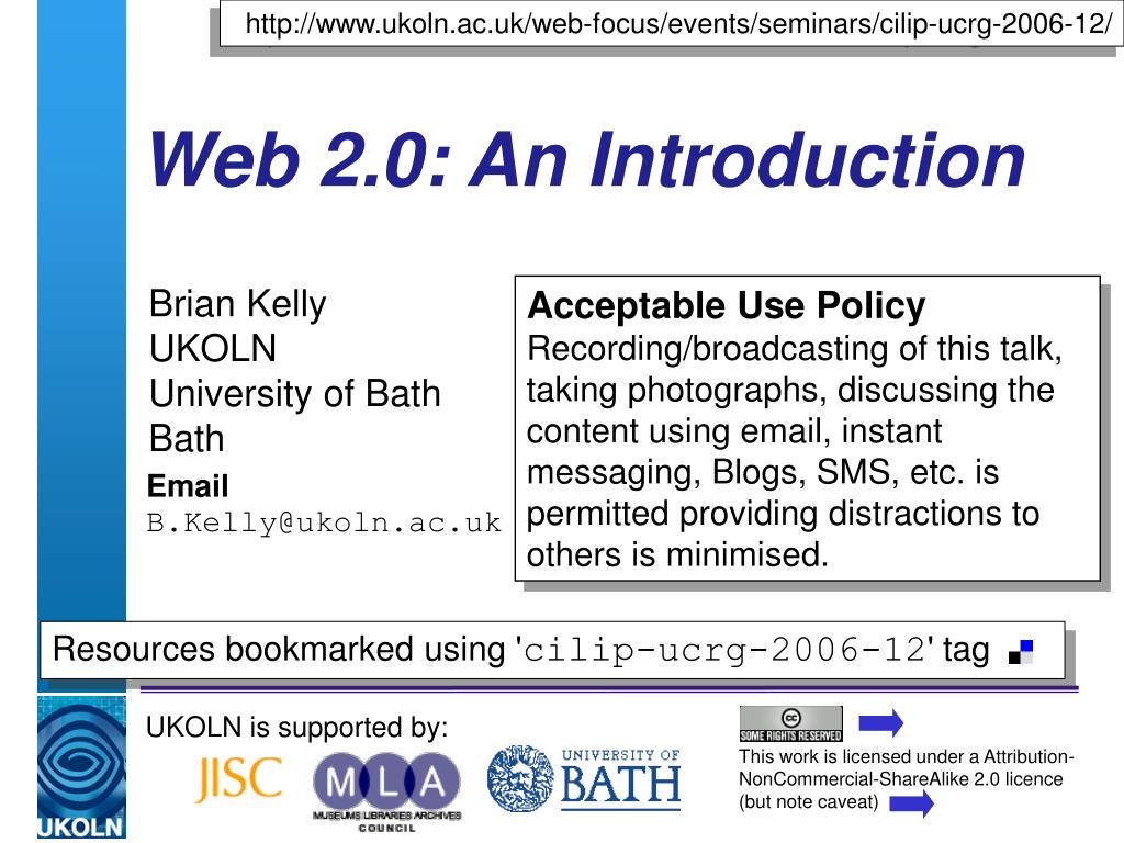 web 2 0 an introduction l.