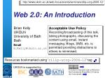 web 2 0 an introduction
