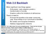 web 2 0 backlash