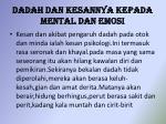 dadah dan kesannya kepada mental dan emosi