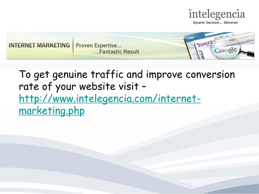 To get genuine traffic and improve conversion rate of your website visit –