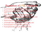 prevention of utis continued
