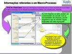 informa es referentes a um macro processo