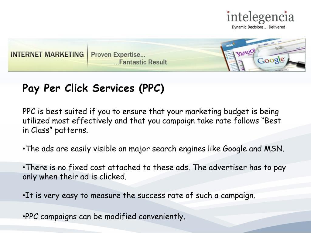 Pay Per Click Services (PPC)