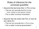 rules of inference for the universal quantifier