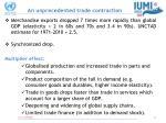 an unprecedented trade contraction