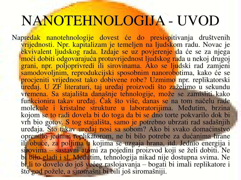 NANOTEHNOLOGIJA - UVOD