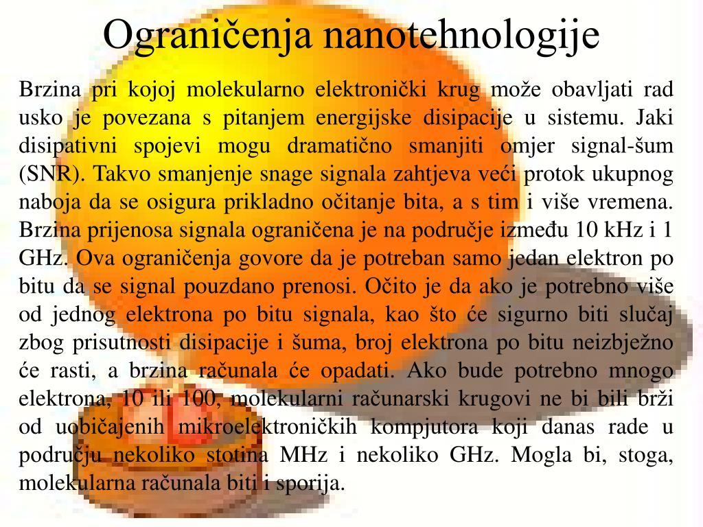 Ograničenja nanotehnologije