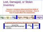 lost damaged or stolen inventory46