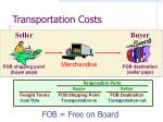 transportation costs