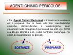 agenti chimici pericolosi